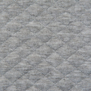 Light Grey Quilted Jersey - 1.7m Piece