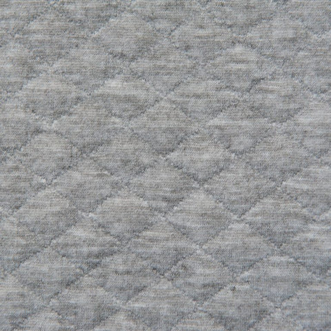 Light Grey Quilted Jersey