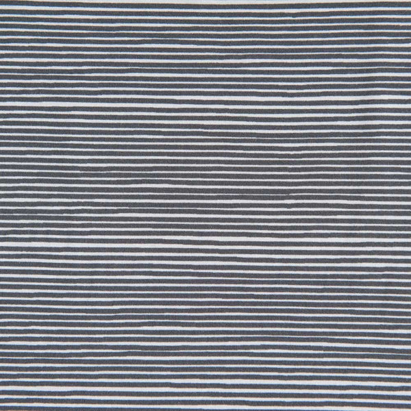 Grey Striped Cotton Jersey by Stof Fabrics