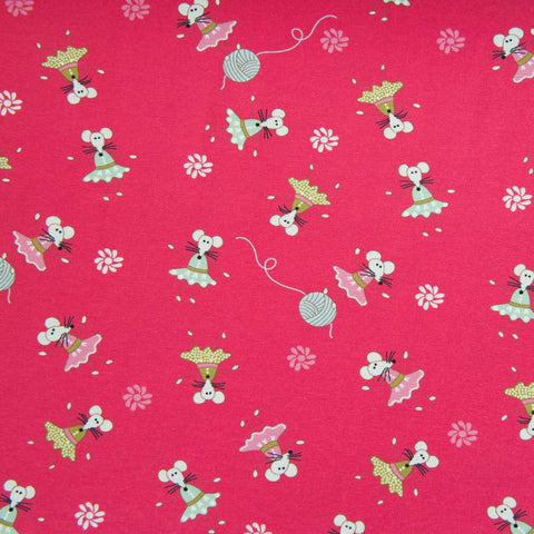 Mice Cotton Jersey by Stof Fabrics