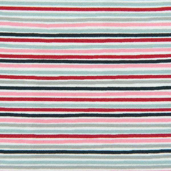 Multi Colour Striped Cotton Jersey by Stof Fabrics