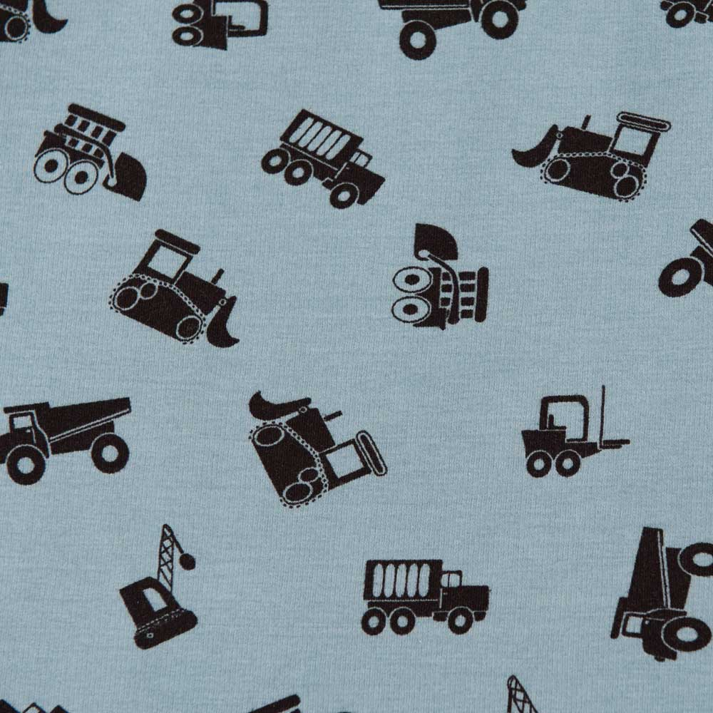 Digger, Truck and Crane Sweatshirt Jersey by Stof Fabrics