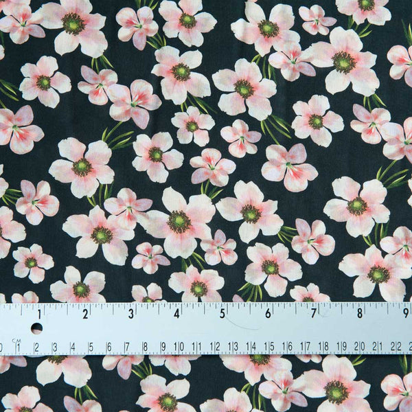 Lady McElroy Floral Chain Viscose - 1m Piece