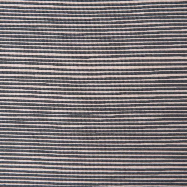 Grey and Peach Striped Cotton Jersey by Stof Fabrics