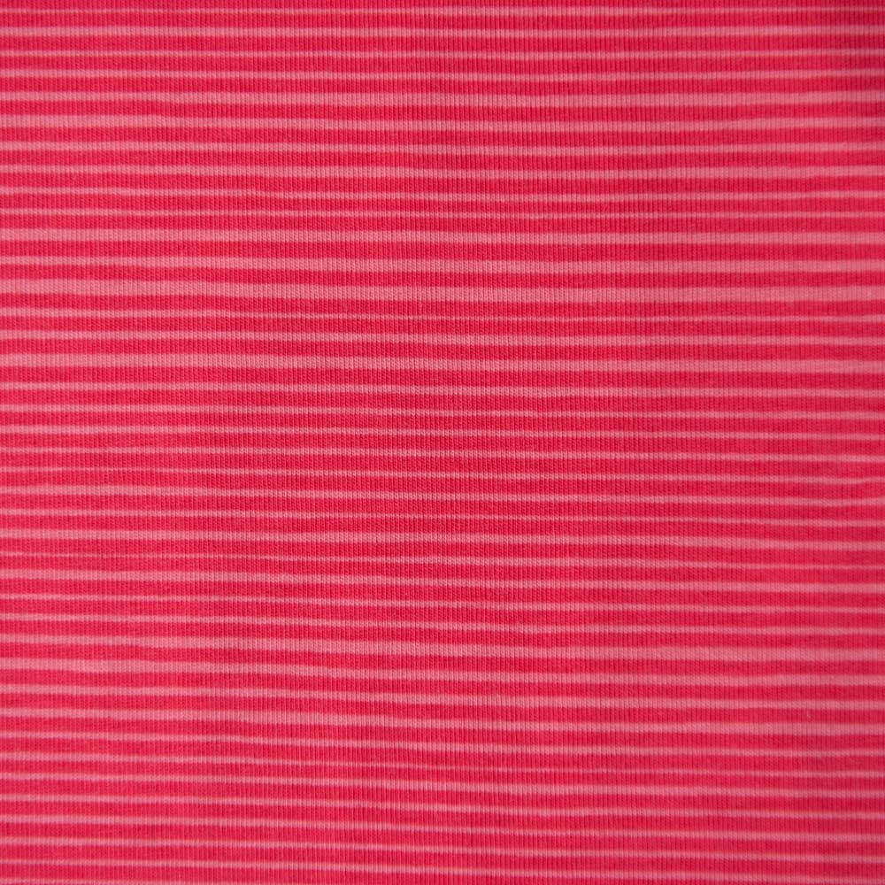Pink Striped Cotton Jersey by Stof Fabrics