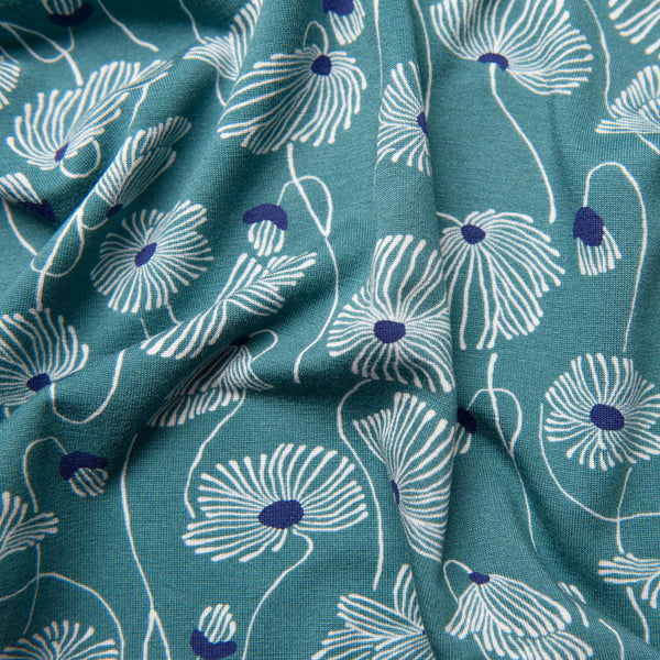Dandelions Viscose Jersey Dress Fabric