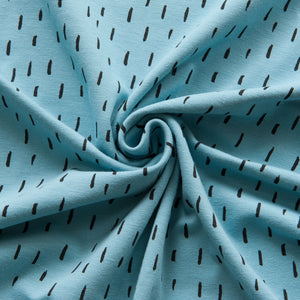 Dashes Cotton Jersey in Light Blue