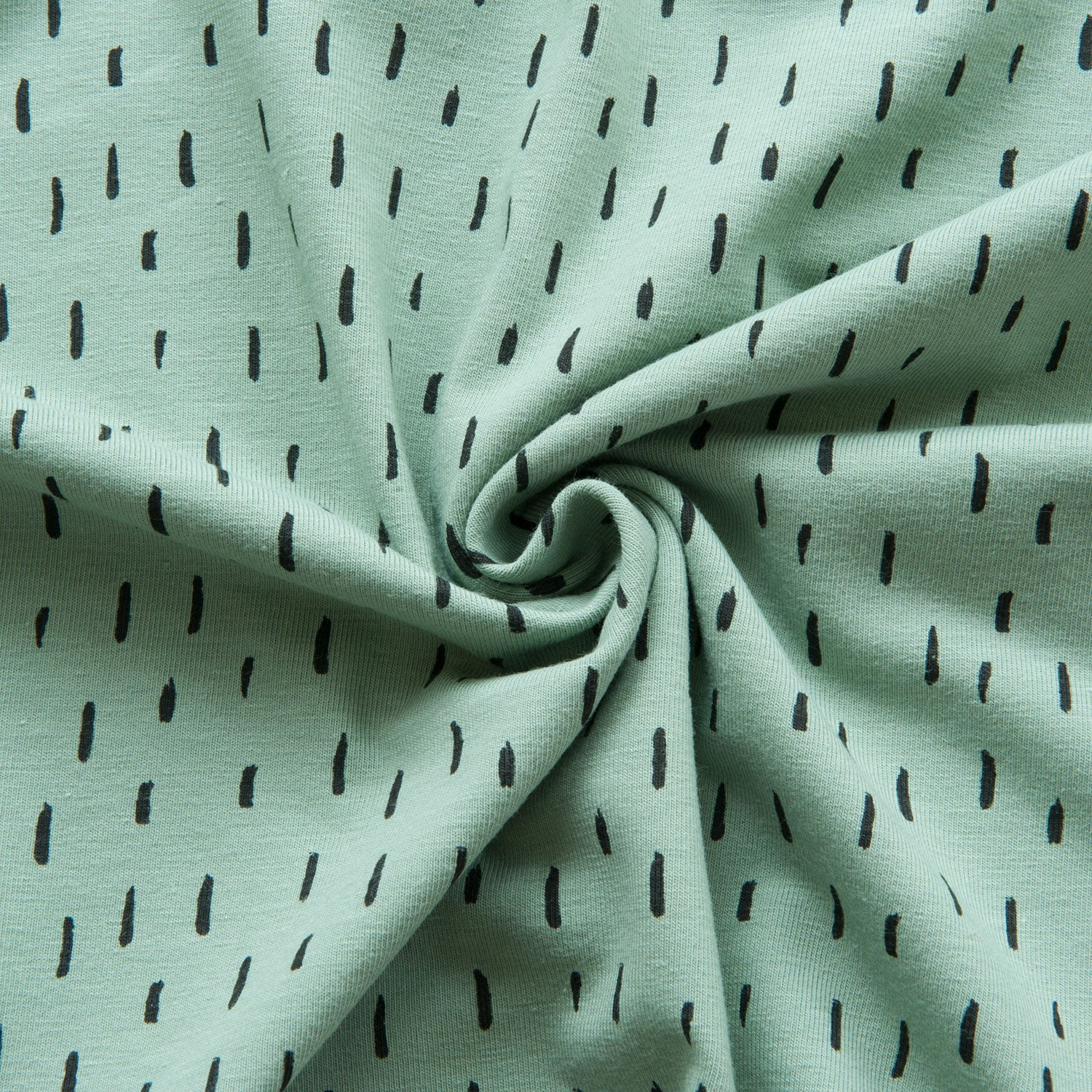 Dashes Cotton Jersey in Green