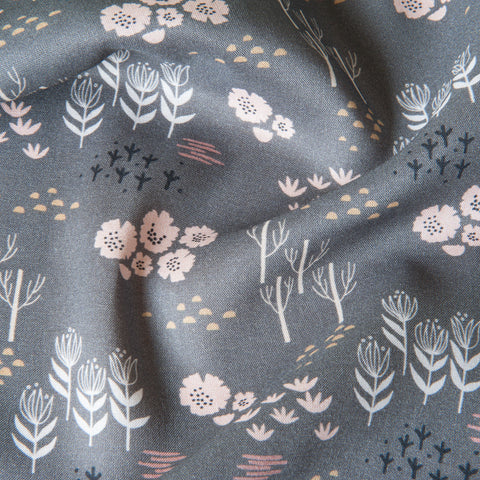 Dashwood Studio - Dovestone Grey Rayon Dressmaking Fabric