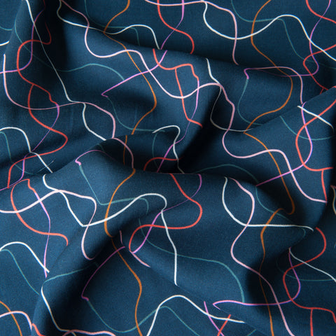 Dashwood Studio - Soiree Between The Lines Rayon Dressmaking Fabric