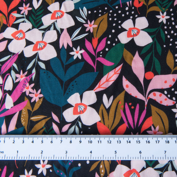 Dashwood Studio - Soiree Secret Garden Rayon Dressmaking Fabric