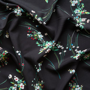 Delilah Viscose in Black
