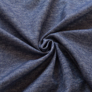 Denim Blue Brushed Cotton Linen