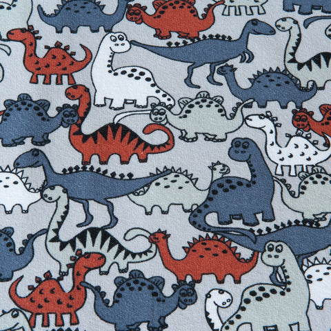 Dinosaur Brushed Back Sweatshirt by Stof Fabrics - 85cm Piece
