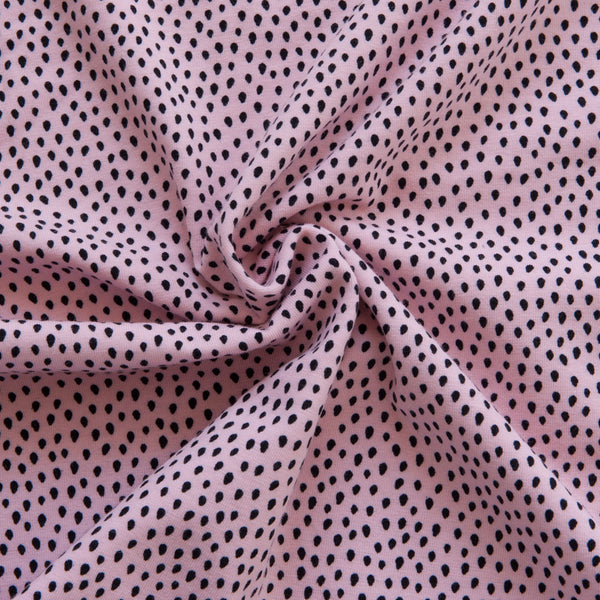 Dots Cotton Jersey in Light Rose