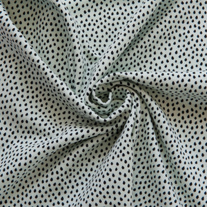Dots Cotton Jersey in Soft Mint