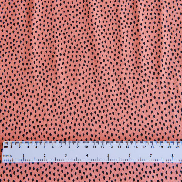 Dots Cotton Jersey in Coral