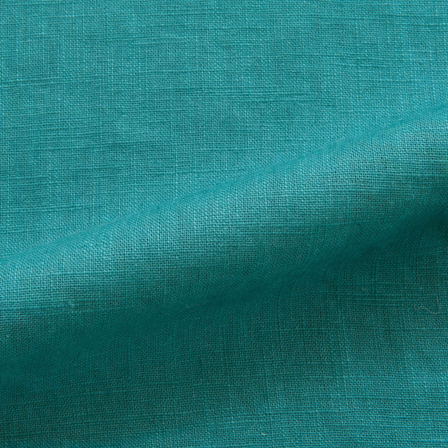 Enzyme Washed Linen in Teal Green