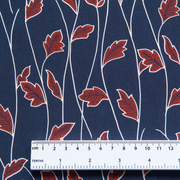 Falling Leaves Viscose Crepe