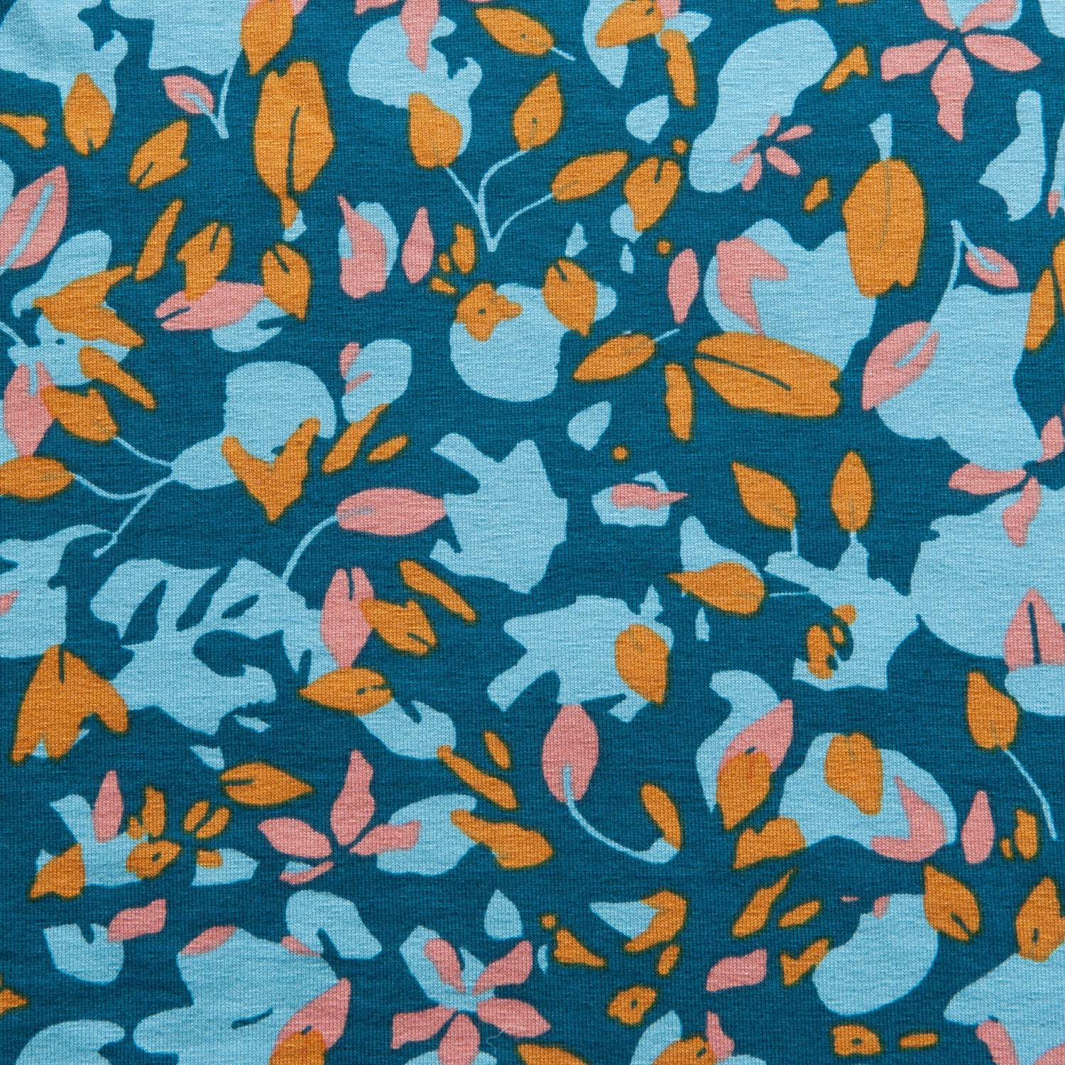 Fantasy Leaves Viscose Jersey