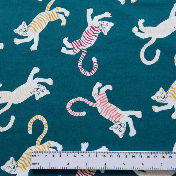 Friendly Tiger French Terry in Teal
