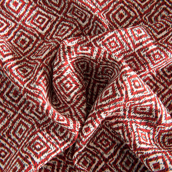 Geometric Polyester - Burnt Orange