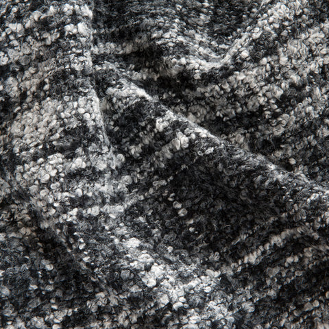 Grey Check Wool Boucle