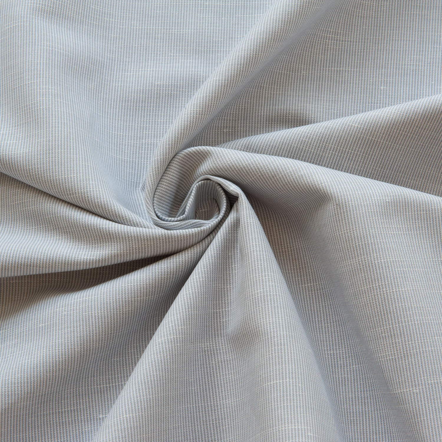 Grey Striped Linen Cotton - 1.8m Piece