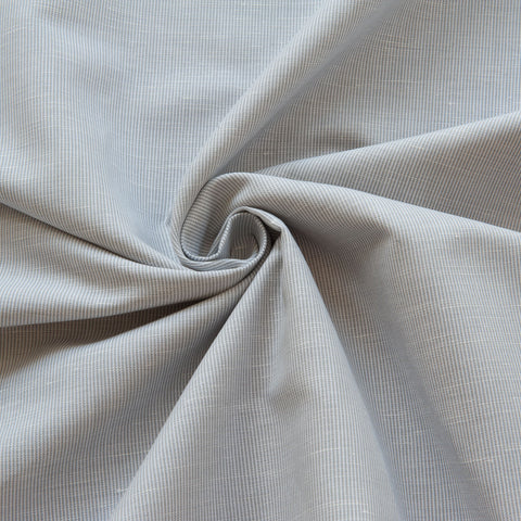 Grey Striped Linen Cotton