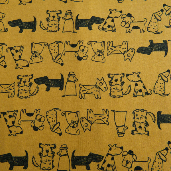 Happy Dogs Cotton Jersey by Stof Fabrics