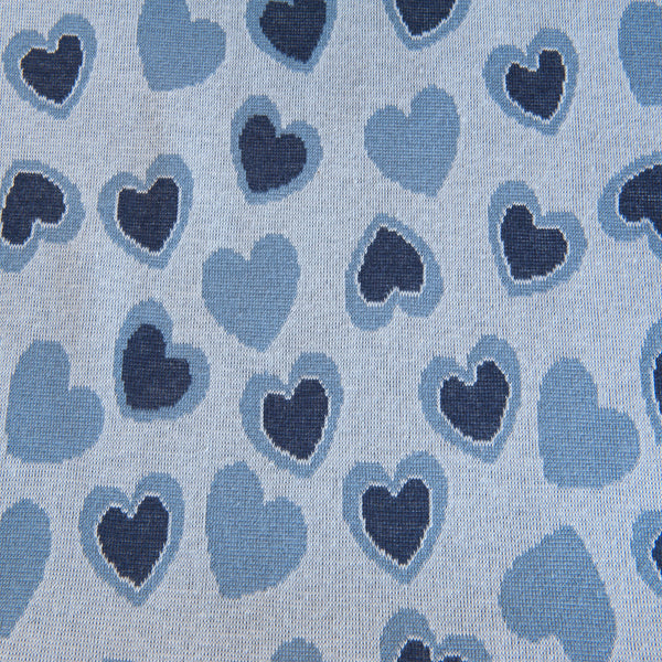 Hearts Jacquard Knit Fabric