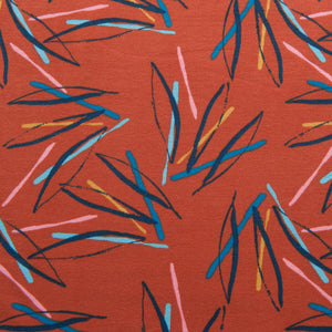 Leaves French Terry in Terracotta