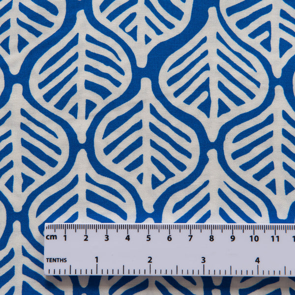 Leaves Viscose in Royal Blue