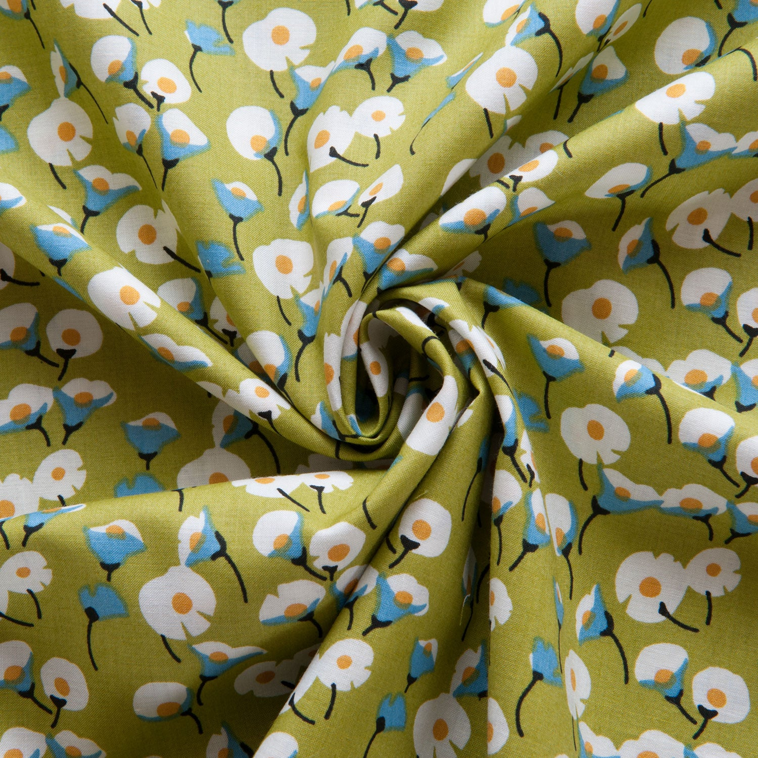Lisa Pima Cotton Lawn in Lime Green