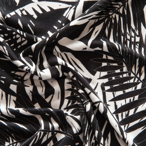 Monochrome Palms Viscose Jersey