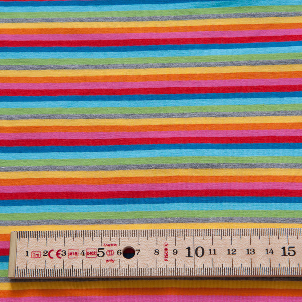 Multicolour Striped Cotton Jersey