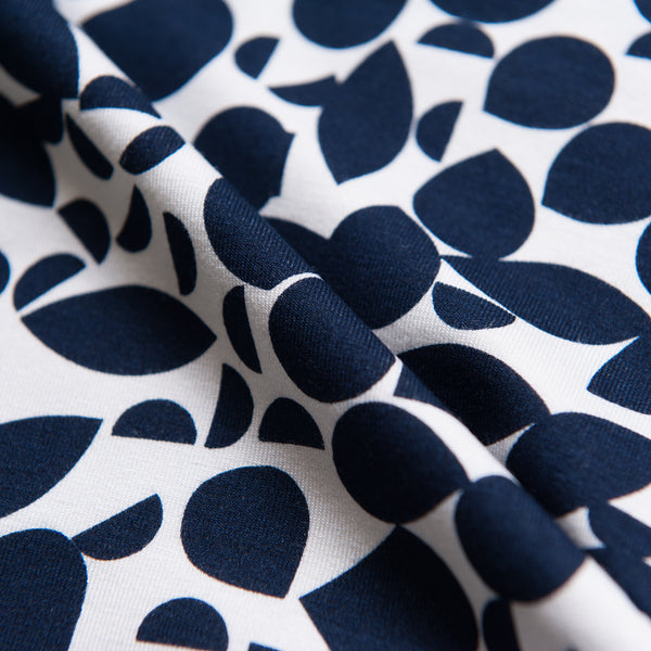 Navy Shapes Viscose Jersey