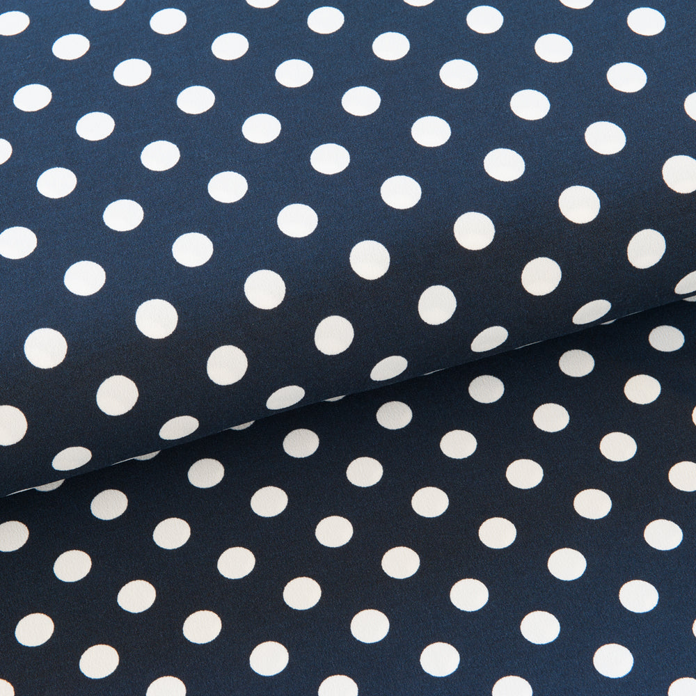 Navy and White Polka Dot Jersey