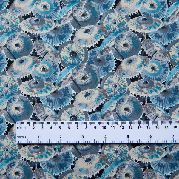 Parasols Pima Cotton Lawn in Blue Dressmaking Fabric