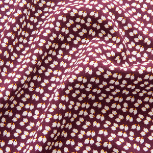 Petal Viscose in Burgundy