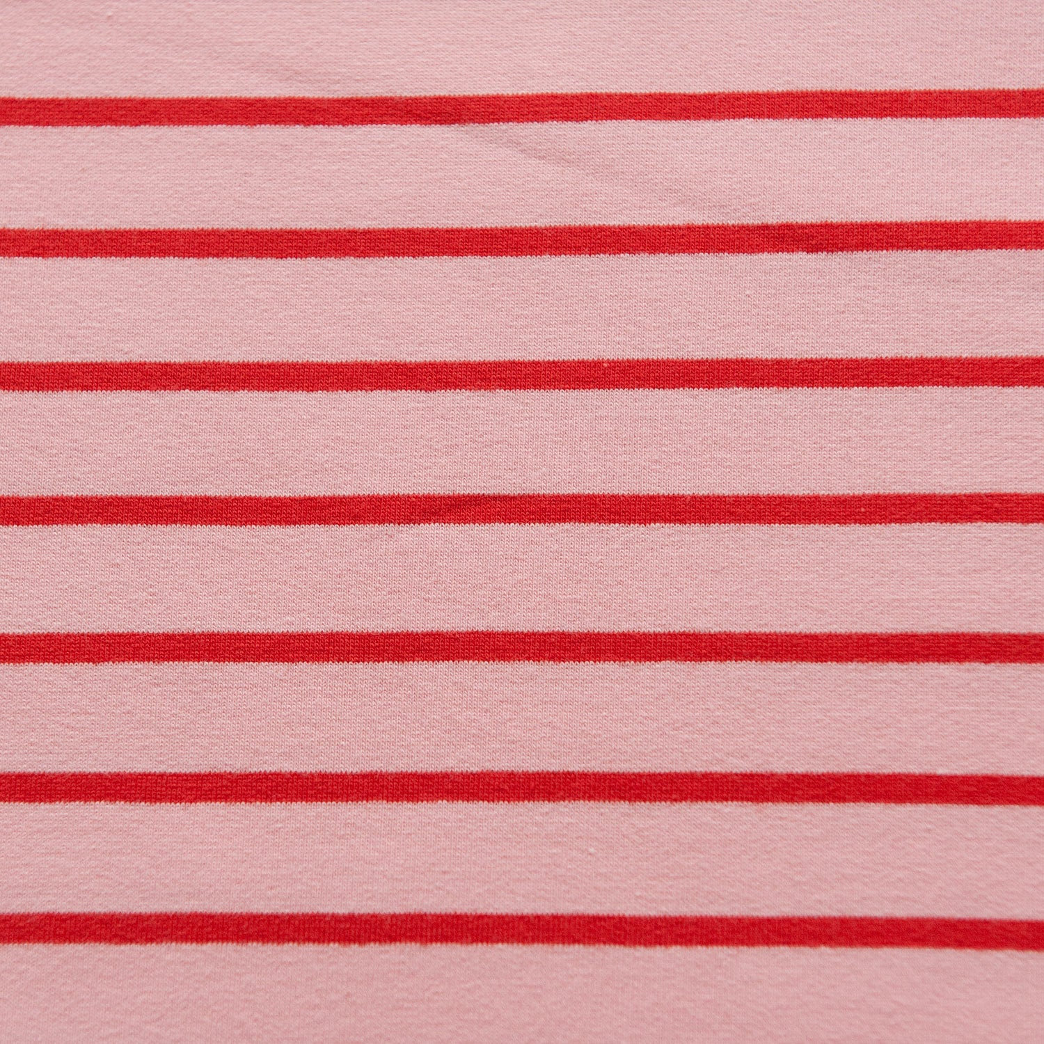 Pink And Red Striped French Terry