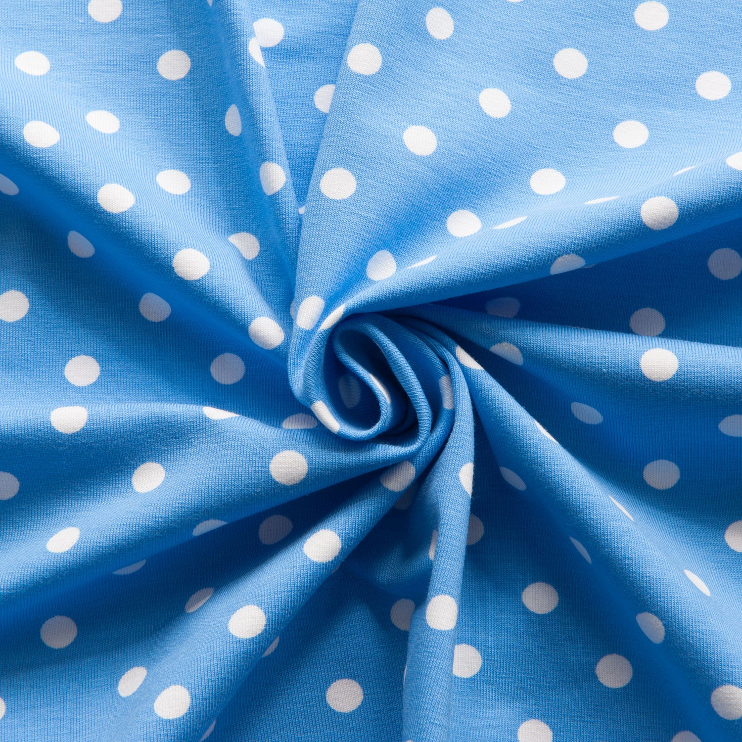 Polka Dot Cotton Jersey in Blue