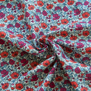 Poppy Pima Cotton Lawn