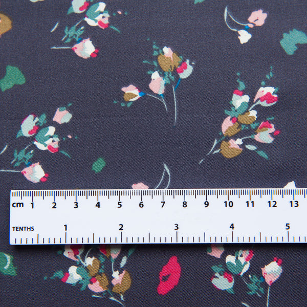 Pretty Floral Viscose in Mauve Fabric