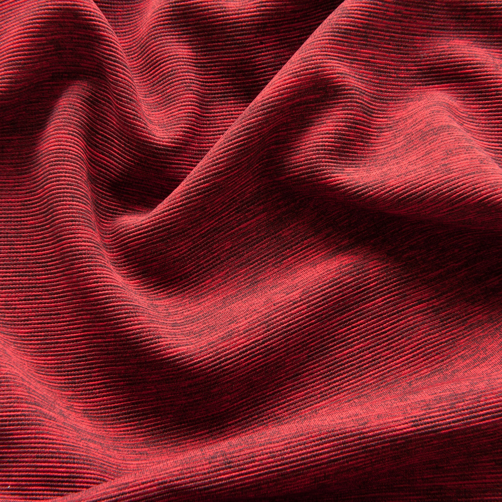 Red and Black Marl Textured Ponte Roma