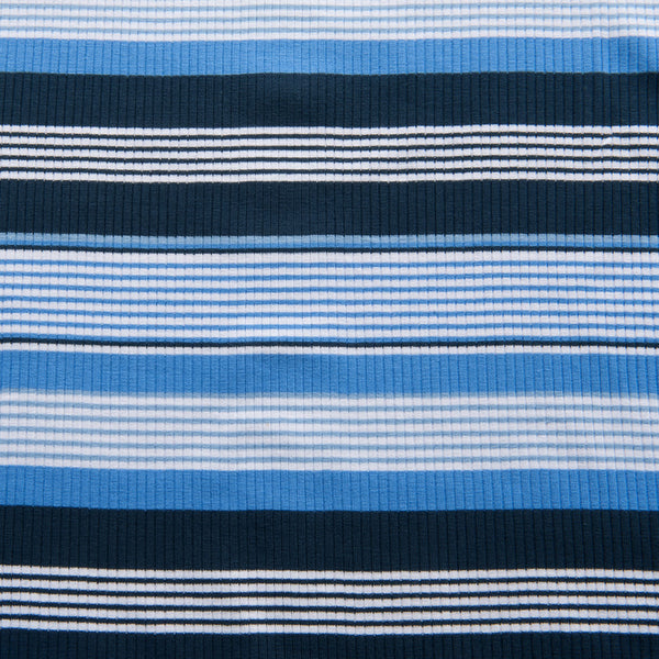 Ribbed Striped Jersey in Blue