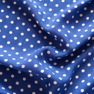 Royal Blue Polka Dot Viscose