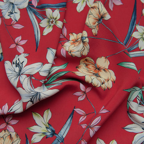 Ruby Viscose Crepe Dressmaking Fabric