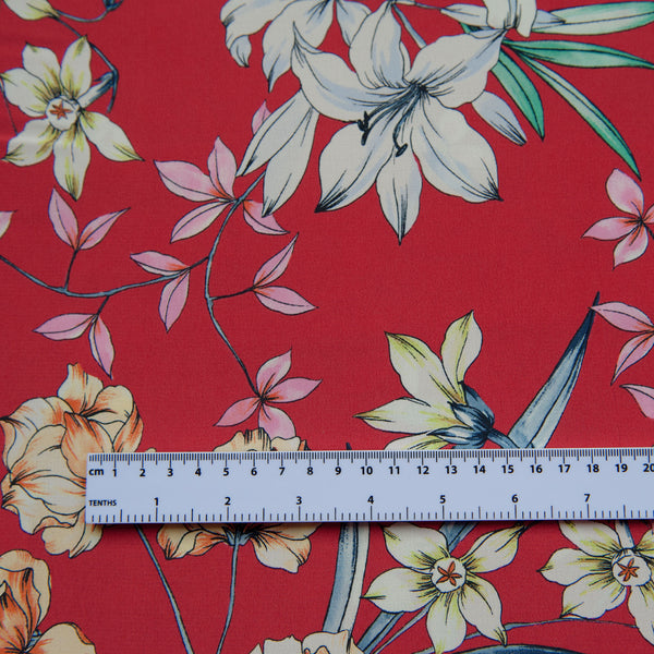 Ruby Viscose Crepe Dress Fabric