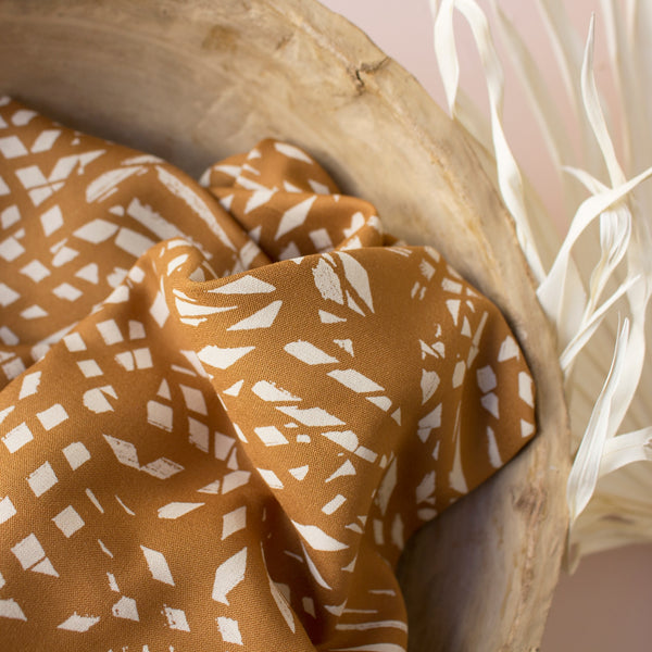 Atelier Brunette - Shade Ochre Viscose Fabric